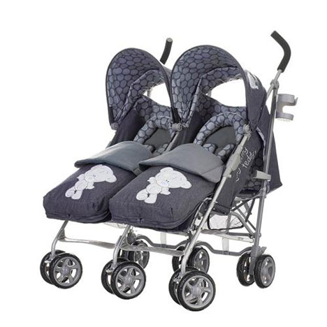 Tiny Tatty Teddy Me to You Bear Deluxe Denim Twin Stroller & Footmuff   £299.99