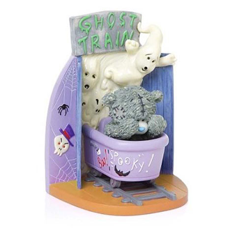 Spooktacula Fun Ghost Train Me to You Bear Trilogy Figurine   £25.00