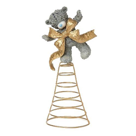 Christmas Wrapped In A Bow Me to You Bear Tree Topper   £25.00