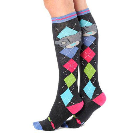 Argyle Me to You Bear Knee High Horse Riding Socks Size 12-3 Size 12-3 £6.00