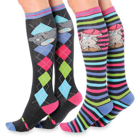 Me to You Bear Knee High Horse Riding Socks Twin Pack Size 12-3 Size 12-3 £11.50