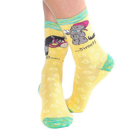 Yellow Calf Length Horse Riding Socks Size 12-3  £6.00