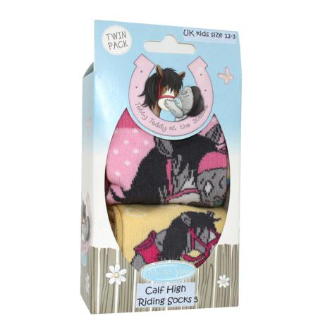 Me to You Bear Knee High Horse Riding Socks Pack Size 12-3  £11.99