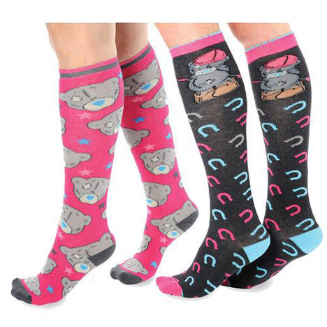 Me to You Bear Knee High Horse Riding Socks Twin Pack Size 4-7 Size 4-7 £11.50
