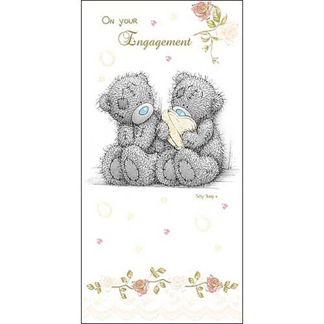 On Your Engagement Me to You Bear Money Wallet  £1.60