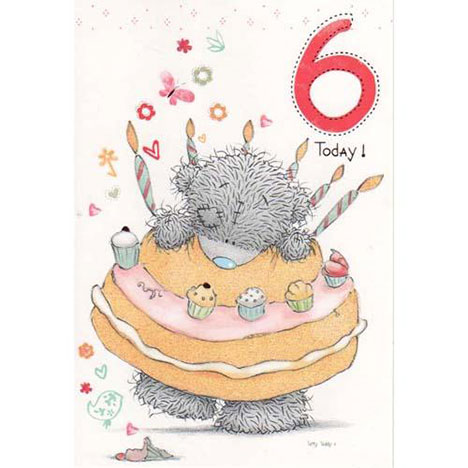 6th Birthday Me to You Bear Card  £1.50