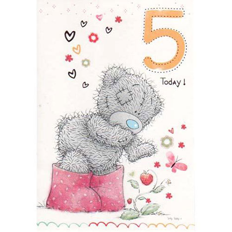 5th Birthday Me to You Bear Card  £1.50
