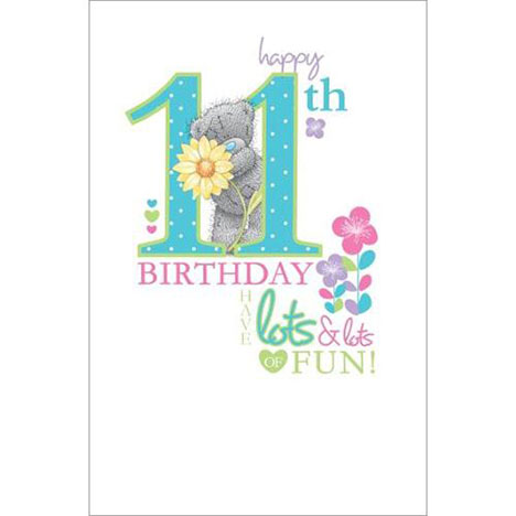Happy 11th Birthday Me to You Bear Card A01ES027 Me to You – 11th Birthday Cards