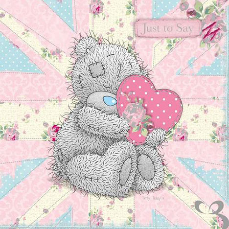 Tatty Teddy with Union Jack Birthday Me to You Bear Card  £1.40