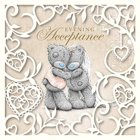 Evening Acceptance Me to You Bear Wedding Card  £1.49