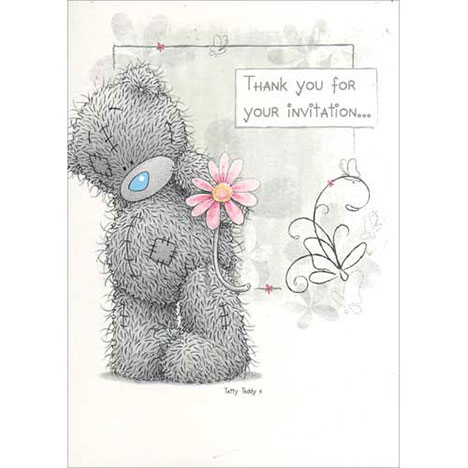 Invitation Acceptance Me to You Bear Card   £1.20