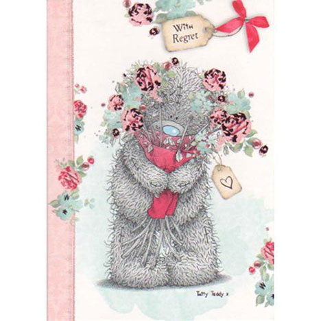 With Regret Wedding Me to You Bear Card  £1.20