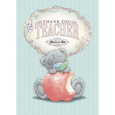Thank You Teacher Me to You Bear Cards  £2.19