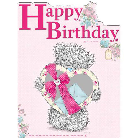 Tatty Teddy Holding Pink Heart Birthday Me to You Bear Card   £3.45