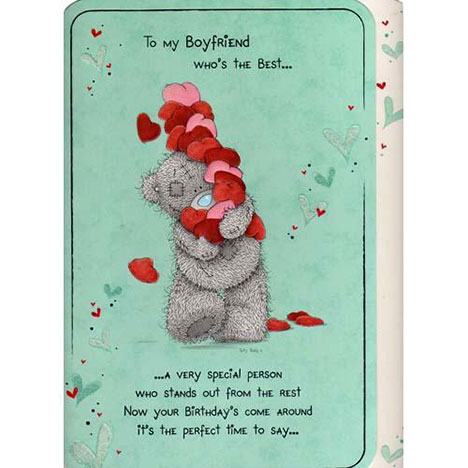 Boyfriend Birthday Me to You Bear Card   £3.25