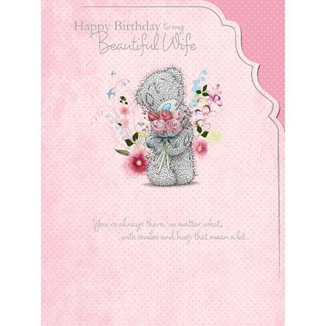 Wife Me to You Bear Birthday Card  £3.59