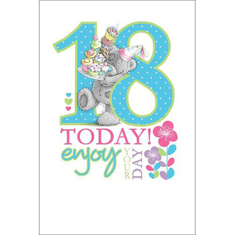 18th Birthday Large Me to You Bear Card  £3.59