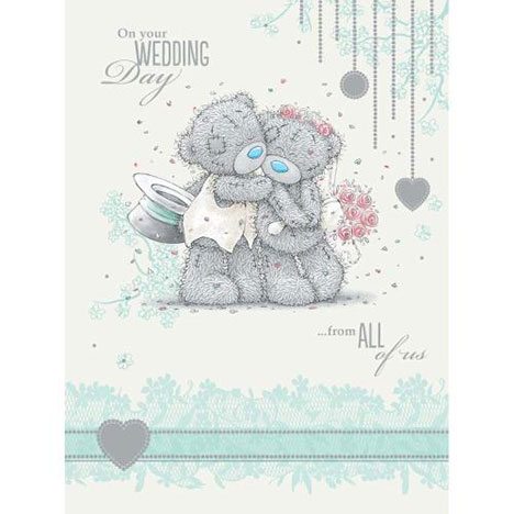 From All of Us Wedding Me to You Bear Card  £3.59