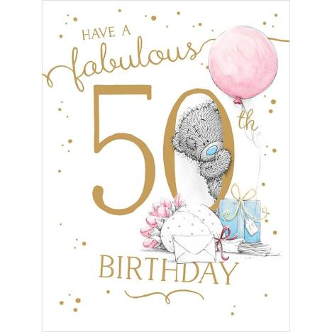 Fabulous 50th Large Me To You Bear Birthday Card A01ls122 Me To