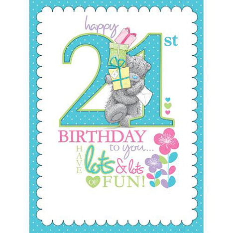 21st Birthday Luxury Me to You Bear Boxed Card  £9.99