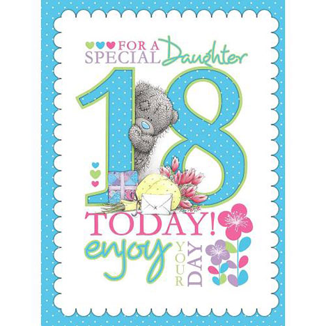 18th Birthday Daughter Me to You Bear Card  £4.25