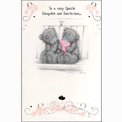 Daughter & Son in Law Me to You Bear Card   £2.25