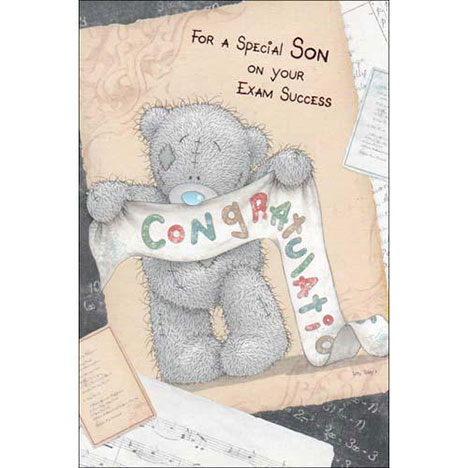Special Son on Your Exam Success Me To You Bear Card  £2.40