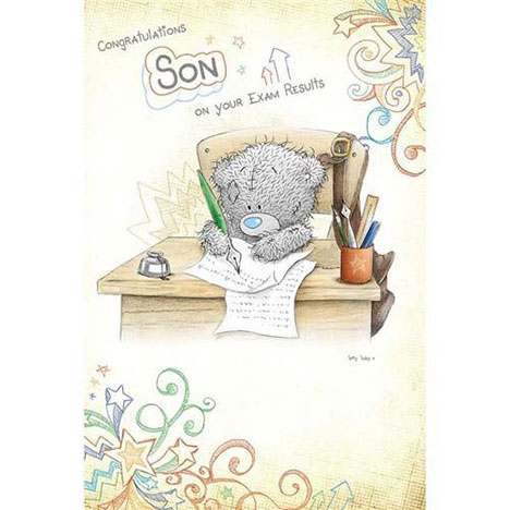 Congratulations Son On Your Exam Results Me to You Bear Card   £2.40