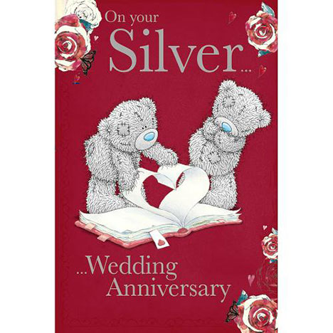 Silver Wedding Anniversary Me to You Bear Card  £2.49