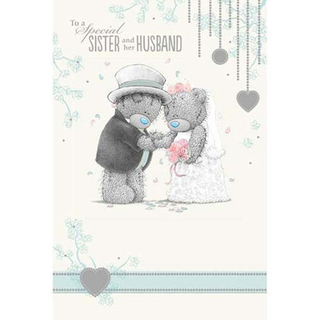 Sister and her Husband Me to You Bear Wedding Card  £2.49