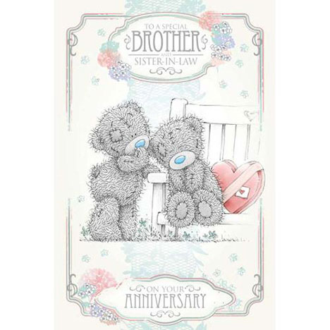 Brother & Sister-in-Law Me to You Bear Anniversary Card  £2.49