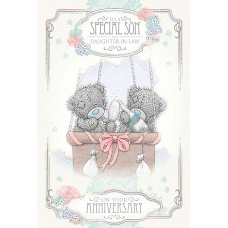 Son and Daughter-in-Law Me to You Bear Anniversary Card  £2.49
