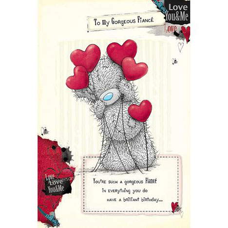Fiance Birthday Me to You Bear Card  £2.49