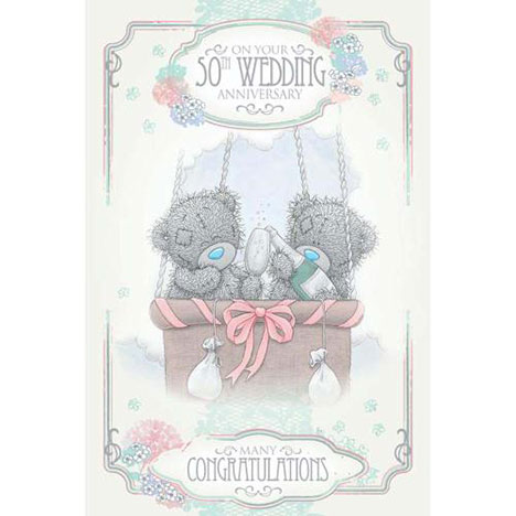 50th Golden Wedding Anniversary Me to You Bear Card  £2.49