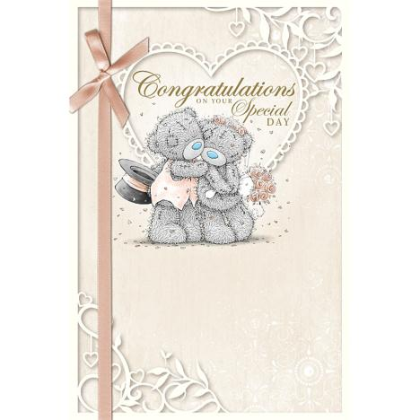 Congratulations Me to You Bear Wedding Card  £2.49