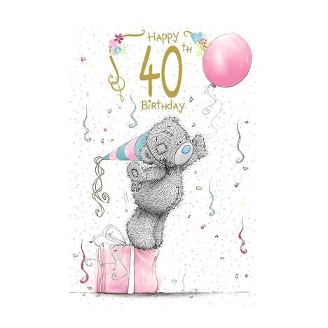 Happy 40th Birthday Me to You Bear Birthday Card  £2.49