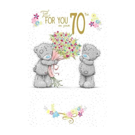 On Your 70th Birthday Me To You Bear Birthday Card A01ms372 Me