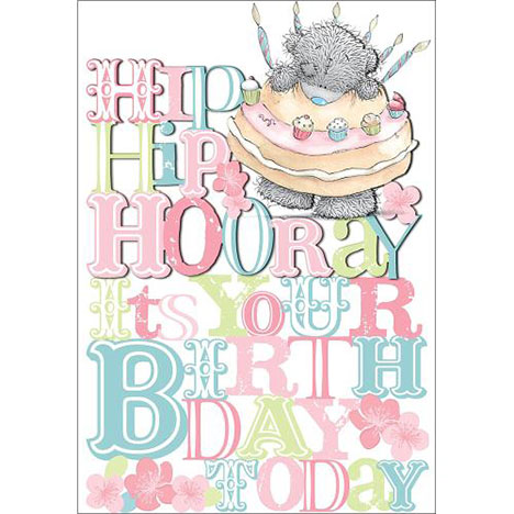 Hooray Its your birthday Me to You Bear Card  £3.79