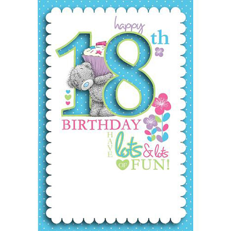 18th Birthday Me to You Bear Card   £3.79