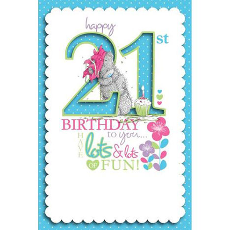 21st Birthday Me to You Bear Birthday Card  £3.79