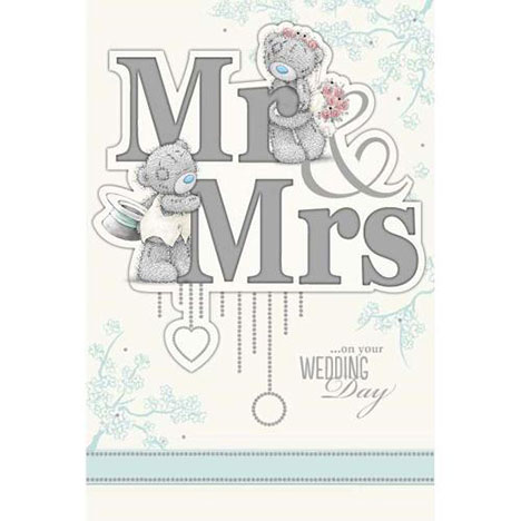 Mr & Mrs Wedding Day Me to You Bear Card  £4.99