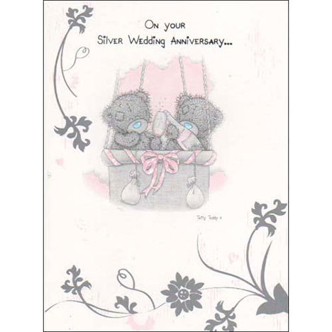 Silver Anniversary Me to You Bear Card  £1.60