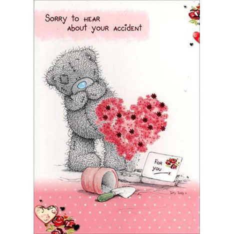 Get Well Accident Me to You Bear Card  £1.50
