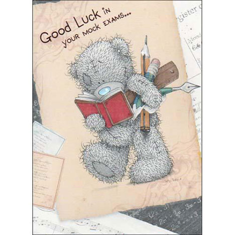 Good Luck in your Mock Exams Me to You Bear Card  £1.60