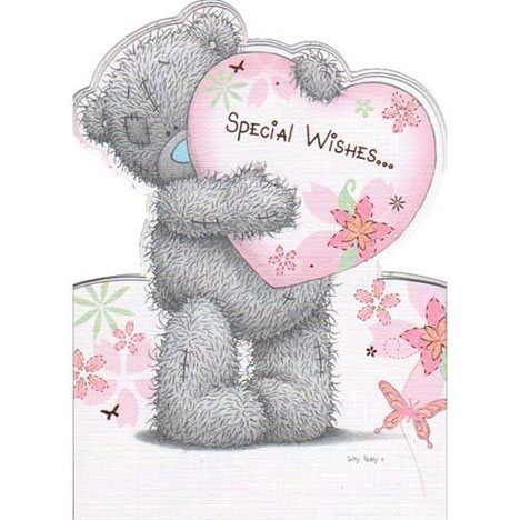 Bear Holding Heart Me to You Bear Birthday Card  £1.95