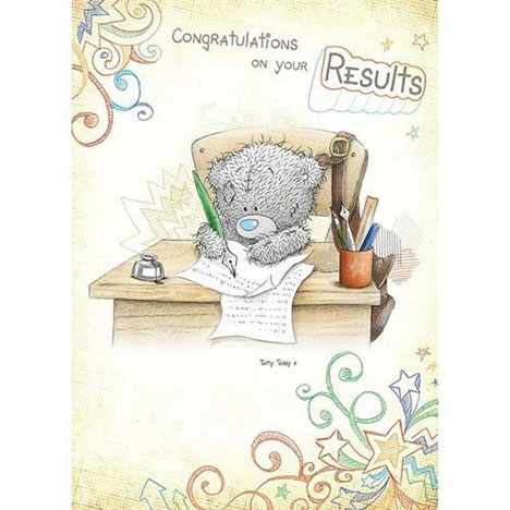 Congratulations on Your Results Me to You Bear Card   £1.60