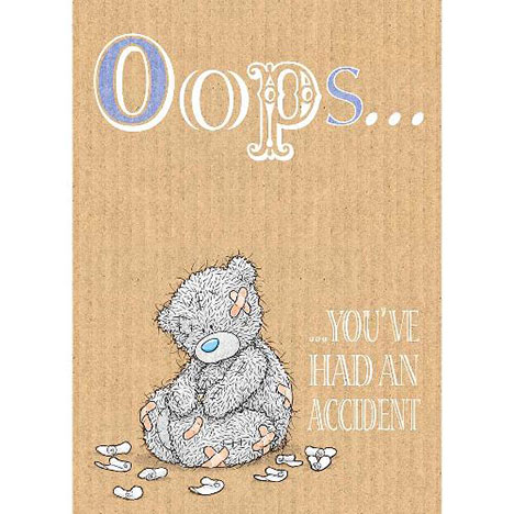 Get Well Accident Me to You Bear Card  £1.79