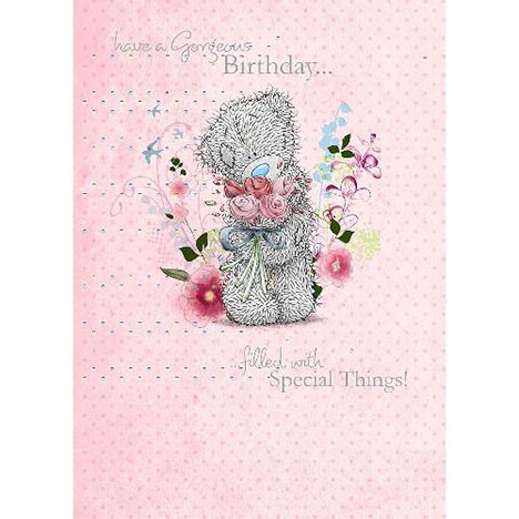 Bear With Bouquet Birthday Me to You Bear Card  £1.79