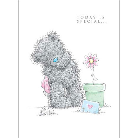 Tatty Teddy With Flower Me to You Bear Birthday Card  £1.69