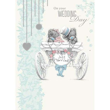 Just Married Me to You Bear Wedding Card  £1.79